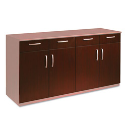 Mayline Buffet Credenza Doors/Drawers, Sierra Cherry Finish