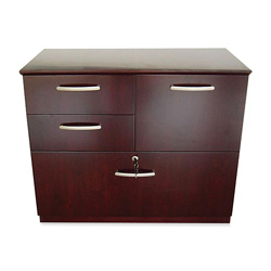 Mayline Corsica Combination File, 36W x 19D x 29-1/2H, Mahogany