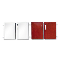 Mayline Doors for Corsica/Napoli Low Wall Cabinet, 72 x 29-1/2 x 1, Sierra Cherry