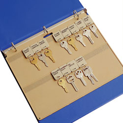 "MMF Industries Key Panel, 22 Key Capacity, 11-1/2""x1/4""x9"", Beige Plastic"