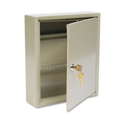 MMF Industries Single Tag Slotted Locking Key Cabinet, 60 Key Capacity, Sand