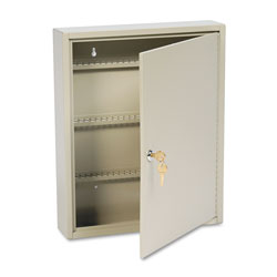 MMF Industries Single Tag Slotted Locking Key Cabinet, 110 Key Capacity, Sand
