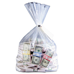MMF Industries Currency deposit bags, 12 x 20, Clear