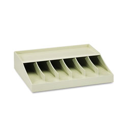 MMF Industries Six Compartment Currency Band Rack, Putty