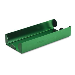 MMF Industries Heavy Duty Aluminum Tray for Rolled Coins, Holds $100 in Dimes, Green