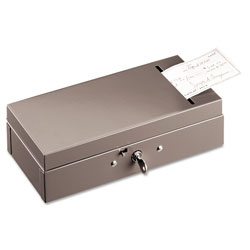 MMF Industries Steel Bond Box with Check Slot, Disc Lock, Gray