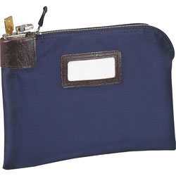 MMF Industries Seven Pin Security Bag with 2 Keys, 3 Ply Nylon, 11w x 8 1/2h, Navy