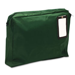 "MMF Industries Gusseted Reusable Mailer, Nylon, 18""x4""x14"", Green"