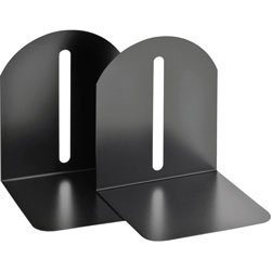 "MMF Industries Magnetic Fashion Bookends, Steel, 6""x5""x7"", Black"