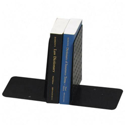 "MMF Industries Bookends, Large, Dimpled, 8"" High, Black"