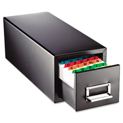 MMF Industries Drawer Card Cabinet Holds 1,500 4 x 6 cards, 8 7/8 x 18 1/8 x 8