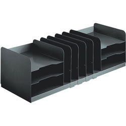 MMF Industries Combination Desk Organizer with Adjustable Dividers, Black