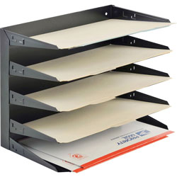 MMF Industries 5Tier MultiTier Steel Horizontal Organizer, Legal Size, 15 x 83/4 x 121/8