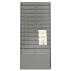 MMF Industries Time Card/Ticket Message Rack, 12 Or 24 Pocket, Gray