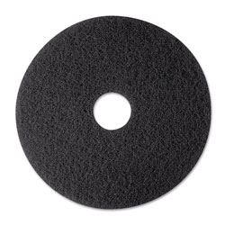 "3M Stripper Floor Pad 7200, 12"", Black, 5/Carton"