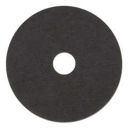 "3M Stripper Floor Pad 7200, 17"", Black, 5/Carton"