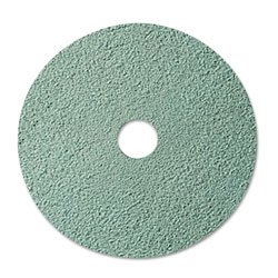 "3M Burnish Floor Pad 3100, 20"" Diameter, Aqua, 5/Carton"