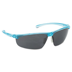3M Refine 202 Safety Glasses, Wraparound, Gray AntiFog Lens, Teal Frame
