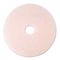 "3M Ultra High-Speed Eraser Floor Burnishing Pad 3600, 20"" Diameter, Pink, 5/Carton"