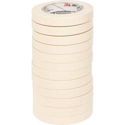 "Highland Economy Masking Tape, 3/4"" x 60yds, 3"" Core, Cream"