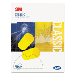 E·A·R E·A·R Classic Small Earplugs in Pillow Paks, PVC Foam, Yellow, 200 Pairs
