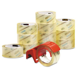 "Scotch 3750 Commercial Performance Packaging Tape, 1.88"" x 54.6yds, Clear, 12/Pack"