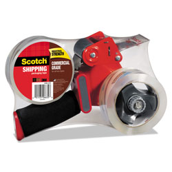 "Scotch Packaging Tape Dispenser with 2 Rolls of Tape, 1.88"" x 54.6yds, 2/Pack"