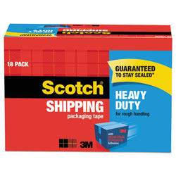 "Scotch 3850 Heavy-Duty Packaging Tape Cabinet Pack, 1.88"" x 54.6yds, 18/Pack"