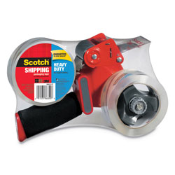 "Scotch Packaging Tape Dispenser with Two Rolls of Tape, 1.88"" x 54.6yds, 2/Pack"
