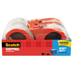 "Scotch 3850 Heavy-Duty Packaging Tape, 1.88"" x 54.6yds, 3"" Core, Clear, 4/Pack"