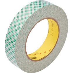"Scotch Double-Coated Tape, 3"" Core, 1""x36 Yards, Off-White"