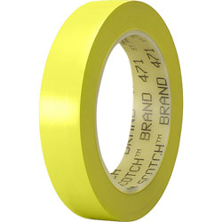 "3M Marking Tape, Vinyl, 1"" x 36Yds, Yellow"