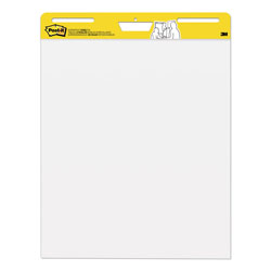 Post-it® Self Stick Plain White Easel Pads, 30 25x30 Sheets/Pad, 2 Pads/Carton
