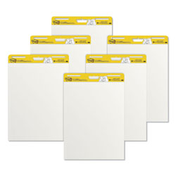 Post-it® Self-Stick Easel Pads, 25 x 30, White, 6 30-Sheet Pads/Carton
