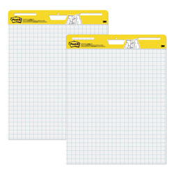 "Post-it® Self Stick 1"" Grid Easel Pads, Thirty 25 x 30 Sheets/Pad, 2 Pads/Ctn"