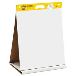 "Post-it® Self-Stick Tabletop Easel Unruled Pad, 20"" x 23"", White, 20 Sheets/Pad"
