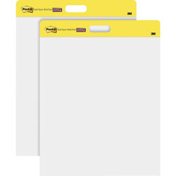 Post-it® Self-Stick Wall Easel Unruled Pad, 20 x 23, White, 20 Sheets/Pad, 4 Pads/Carton