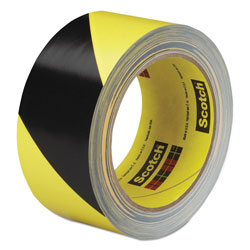 3M Caution Stripe Tape, 2w x 108ft Roll