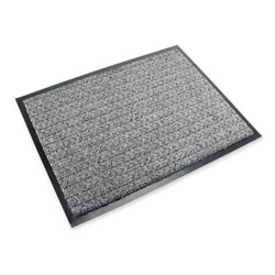 3M Medium Traffic Vinyl Scraper Mat, 3' x 5', Gray