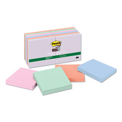 Post-it® Farmers Market Super Sticky Notes, Unlined, 3 x 3, 12 90-Sheet Pads/Pack