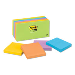 Post-it® Ultra Color Note Pads, 3 x 3 Size, 14 Pads/Pack