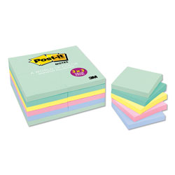 Post-it® Pastel Notes Value Pack, 3 x 3, Assorted, 24 100-Sheet Pads/Pack