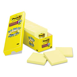 Post-it® Super Sticky Notes, 3 x 3, Canary Yellow, 24 90-Sheet Pads/Pack