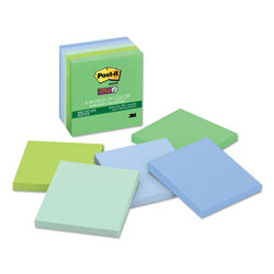 Post-it® Super Sticky Tropical Notes, 3 x 3, 5 Pads/Pack, Assorted