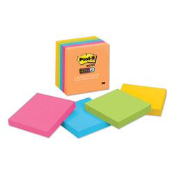 Post-it® Pads in Rio de Janeiro Colors, 3 x 3, 90-Sheet, 5/Pack