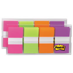 Post-it® Bright Colors Portable Flags, 1""