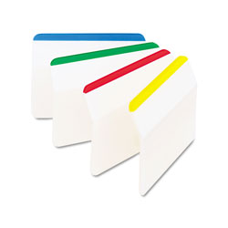 Post-it® Durable Hanging File Tabs, 2 x 1 1/2, Striped, Assorted Colors, 24/Pack