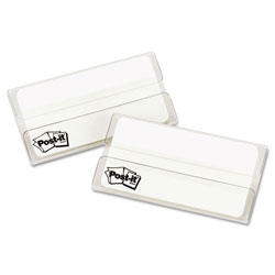 Post-it® Durable File Tabs, 3 x 1 1/2, White, 50/Pack