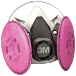 3M Half Facepiece Respirator Packout, Medium, with Particulate Filters