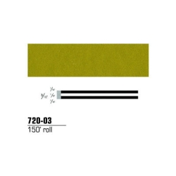 "3M Striping Tape, Gold Metallic, 3/16"" x 150'"